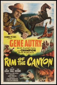 "Rim of the Canyon (Columbia, 1949). One Sheet (27"" X 41""). Western"