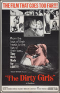 "Movie Posters:Sexploitation, The Dirty Girls (Audubon, 1964). One Sheet (27.5"" X 42"").Sexploitation.. ..."