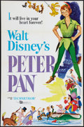 "Movie Posters:Animated, Peter Pan (Buena Vista, R-1969). One Sheet (27"" X 41""). Animated.. ..."