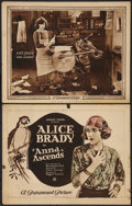 "Movie Posters:Romance, Anna Ascends (Paramount, 1922). Title Lobby Card and Lobby Card(11"" X 14""). Romance.. ... (Total: 2 Items)"