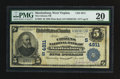 National Bank Notes:West Virginia, Martinsburg, WV - $5 1902 Plain Back Fr. 602 The Citizens NB Ch. # (S)4811. ...