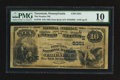 National Bank Notes:Pennsylvania, Tarentum, PA - $10 1882 Date Back Fr. 545 The Peoples NB Ch. #(E)5351. ...