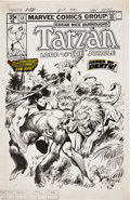 Original Comic Art:Covers, John Buscema and Neal Adams Tarzan #12 Cover Original Art(Marvel, 1978)....