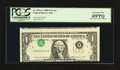 Error Notes:Inverted Third Printings, Fr. 1914-A $1 1988 Federal Reserve Note. PCGS Extremely Fine45PPQ.. ...
