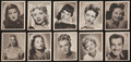 Non-Sport Cards:Sets, 1948 Bowman Movie Stars Complete Set (36). ...
