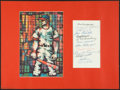 Baseball Collectibles:Others, Baseball Hall of Famers Multi Signed Display and Joe McCarthySigned Photograph. ...