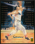 Baseball Collectibles:Photos, Ted Williams Signed Oversized Print....