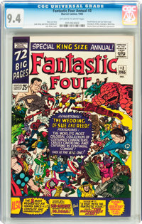 Fantastic Four Annual #3 (Marvel, 1965) CGC NM 9.4 Off-white to white pages