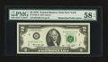 Fr. 1935-B $2 1976 Federal Reserve Note. PMG Choice About Unc 58 EPQ