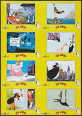 "Movie Posters:Animation, The Best of Tex Avery: King of Cartoons (MGM, 1988). Uncut German Lobby Card Set of 8 (23.25"" X 33""). Animation.. ..."