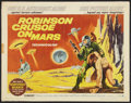 "Movie Posters:Science Fiction, Robinson Crusoe On Mars (Paramount, 1964). Half Sheet (22"" X 28"").Science Fiction.. ..."