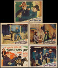 """Movie Posters:Western, Ghost Town Law (Monogram, 1942). Title Lobby Card and Lobby Cards(4)(11"""" X 14""""). Western.. ... (Total: 5 Items)"""