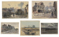 Works on Paper, EMILE APPAY (French, 1876-1935). A Collection of 15 World War I Watercolors and Drawings produced at the Front, 1914-16... (Total: 15 Items)