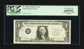Error Notes:Inking Errors, Fr. 1905-B $1 1969B Federal Reserve Note. PCGS Very Choice New64PPQ.. ...
