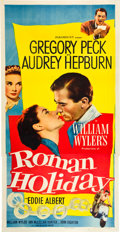 "Movie Posters:Romance, Roman Holiday (Paramount, 1953). Three Sheet (41"" X 81"").. ..."