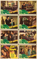 "Movie Posters:Horror, Cat People (RKO, 1942). Lobby Card Set of 8 (11"" X 14"").. ...(Total: 8 Items)"