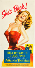 "Movie Posters:Film Noir, Affair in Trinidad (Columbia, 1952). Three Sheet (41"" X 81"").. ..."