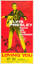 "Movie Posters:Elvis Presley, Loving You (Paramount, R-1959). Three Sheet (41"" X 81"").. ..."