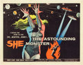 "Movie Posters:Science Fiction, The Astounding She Monster (American International, 1958). HalfSheet (22"" X 28"").. ..."