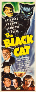 "Movie Posters:Mystery, The Black Cat (Universal, 1941). Insert (14"" X 36"").. ..."