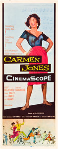 "Movie Posters:Black Films, Carmen Jones (20th Century Fox, 1954). Insert (14"" X 36"").. ..."