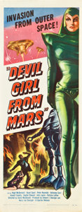 "Movie Posters:Science Fiction, Devil Girl from Mars (Spartan, 1955). Insert (14"" X 36"").. ..."