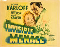 """Movie Posters:Mystery, The Invisible Menace (Warner Brothers, 1938). Half Sheet (22"""" X 28"""").. ..."""