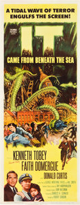 """Movie Posters:Science Fiction, It Came from Beneath the Sea (Columbia, 1955). Autographed Insert(14"""" X 36"""").. ..."""