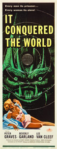 "Movie Posters:Science Fiction, It Conquered the World (American International, 1956). Insert (14"" X 36"").. ..."