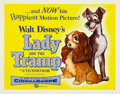 "Movie Posters:Animation, Lady and the Tramp (Buena Vista, 1955). Half Sheet (22"" X 28"")....."