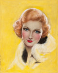 Pin-up and Glamour Art, CHARLES GATES SHELDON (American, 1889-1960). Astrid Allwyn,Screenland magazine cover. Pastel on board. 17 x 14 in.. Sig...
