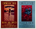 Music Memorabilia:Posters, Chamber Brothers/Grateful Dead Fillmore West Concert Poster BG206/205 Uncut Proof Sheet (Bill Graham, 1969)....