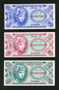Military Payment Certificates:Series 651, Series 651 5¢; 10¢; 25¢ Gem New. . ...