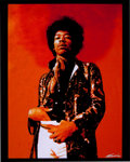 Music Memorabilia:Photos, Jimi Hendrix Rare The Jimi Hendrix Experience Solo PortraitLimited Edition Photo....