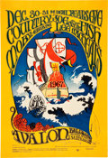 Music Memorabilia:Posters, Country Joe & The Fish Avalon Ballroom Concert Poster FD-41(Family Dog, 1966)....