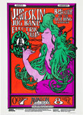 Music Memorabilia:Posters, Jim Kweskin Jug Band Avalon Poster, Signed by Mouse and Kelley....