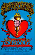 Music Memorabilia:Posters, Big Brother and the Holding Company/Santana Fillmore West ConcertPoster BG-136 (Bill Graham, 1968). ...