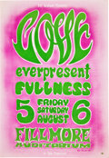 Music Memorabilia:Posters, Love Fillmore Auditorium Concert Poster BG-21 (Bill Graham,1966....