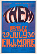 Music Memorabilia:Posters, Them/Sons of Champlin Fillmore Concert Poster BG-20 (Bill Graham, 1966)....
