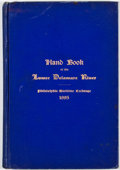 Books:First Editions, Frank H. Taylor. The Hand Book of the Lower Delaware River.Philadelphia: Geo. S. Harris, 1895. First edition. Octav...