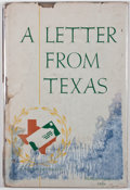 Books:First Editions, Townsend Miller. A Letter From Texas. Dallas: Neiman-Marcus,1944. Second edition. Publisher's binding and dust jack...