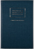 Books:First Editions, Raymond R. Borst. Henry David Thoreau: A DescriptiveBibliography. [Pittsburgh]: University of Pittsburgh Press,198...