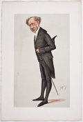 """Antiques:Posters & Prints, """"Spy"""" [pseudonym for Sir Leslie Ward]. Eight """"Spy"""" Color LithographCaricatures, Ca. 1890. Dampstaining to margins of all ex... (Total:8 Items)"""