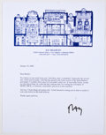 Books:Signed Editions, Ray Bradbury. Two Typed Letters Signed, Each on Author's Letterhead. Each dated 2002. Letters from Bradbury to Barnaby Conra... (Total: 2 Items)