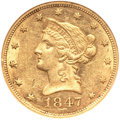 Liberty Eagles, 1847 $10 MS60 NGC....