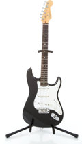 Musical Instruments:Electric Guitars, 1998 Fender Stratocaster Black Solid Body Electric Guitar #N8332783...