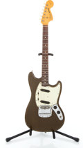 Musical Instruments:Electric Guitars, 1966 Fender Mustang Brown Solid Body Electric Guitar #111017...