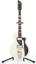 Musical Instruments:Electric Guitars, 1960 Supro Dual Tone White Solid Body Electric Guitar #T48431...