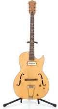 Musical Instruments:Electric Guitars, 1961 Kay Galaxie Natural Semi-Hollow Body Electric Guitar #N/A...