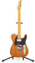 Musical Instruments:Electric Guitars, Fender Copy T Style Amber Solid Body Electric Guitar w/ B-bender#59856...